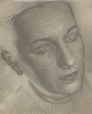 Portrait of Maria Portinari (Solarization)